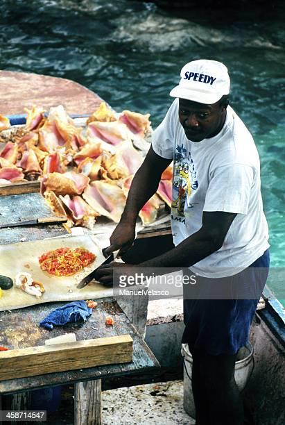 preparación de conch - manuel velasco fotografías e imágenes de stock