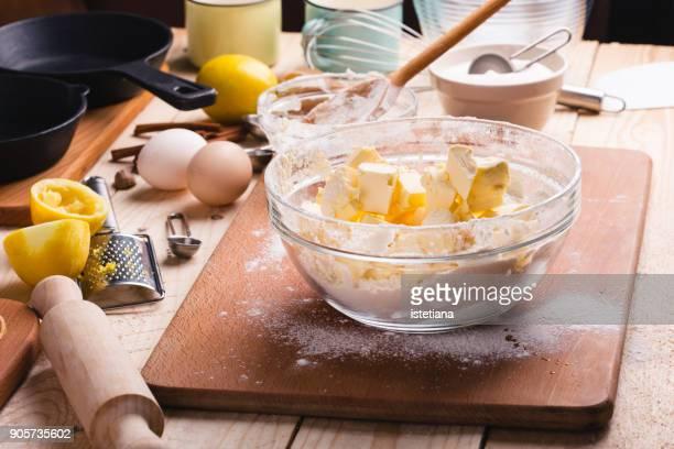 Preparing crust dough for baking