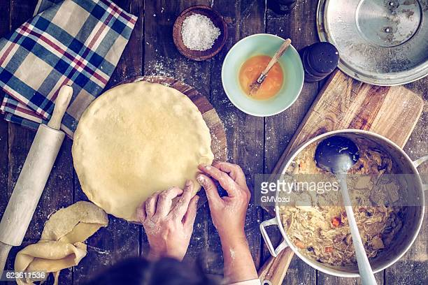 Preparing Delicious Homemade Chicken Meat Pie
