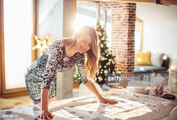 Preparing family Christmas event