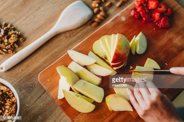 preparing food - slice stock pictures, royalty-free photos & images