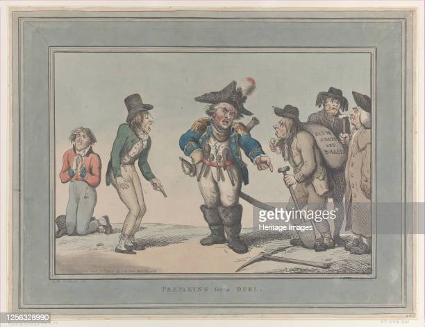 Preparing for a Duel January 12 1795 Artist Thomas Rowlandson