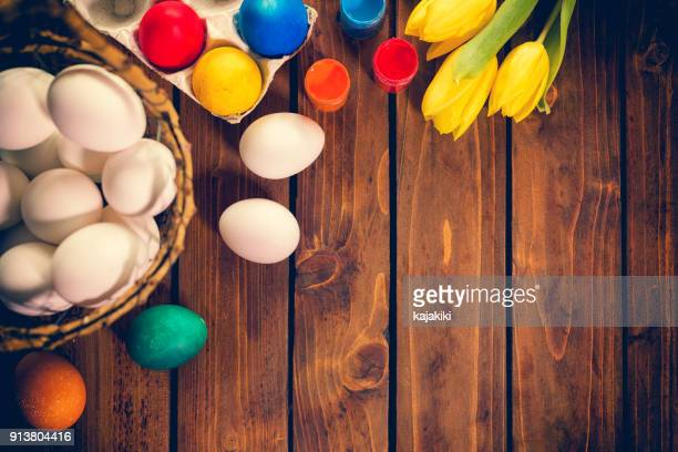 preparing for easter - easter religious background stock pictures, royalty-free photos & images