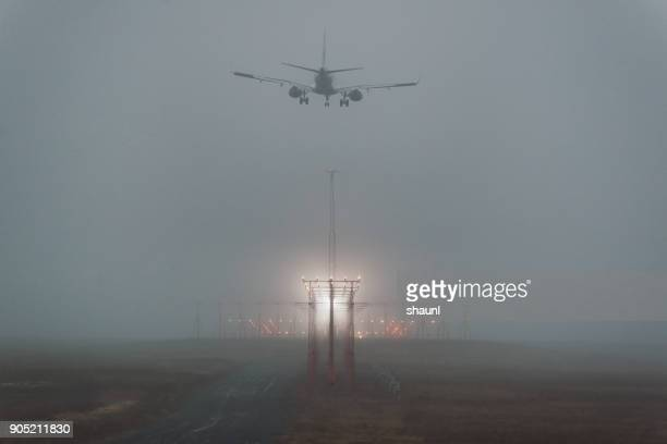 preparing for landing - fog stock pictures, royalty-free photos & images