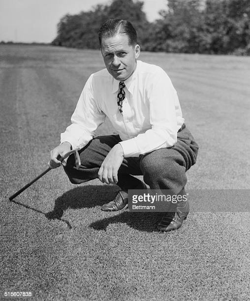 Preparing for Masters Golf Tournament Augusta Georgia Bobby Jones former king of golf has his famous putter Calamity Jane in good working order as he...
