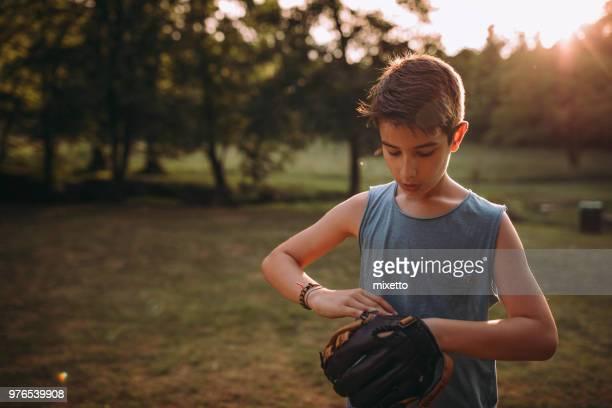 Preparing for playing baseball