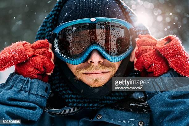 Preparing for snow ride