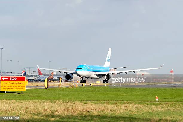 KLM preparing for take off