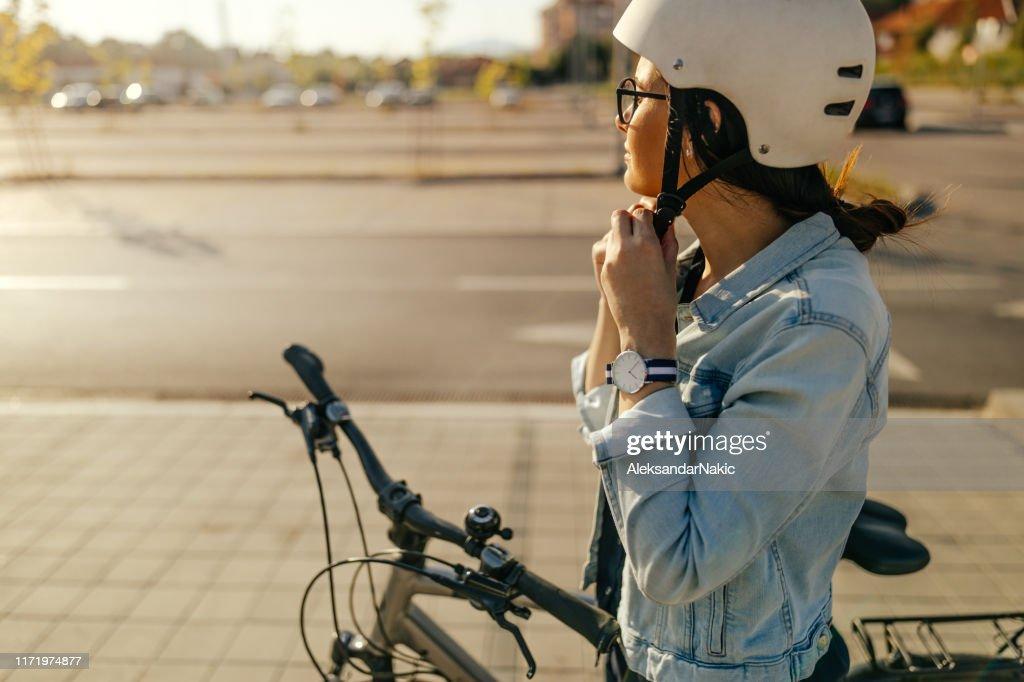 Préparation pour la balade à vélo : Photo