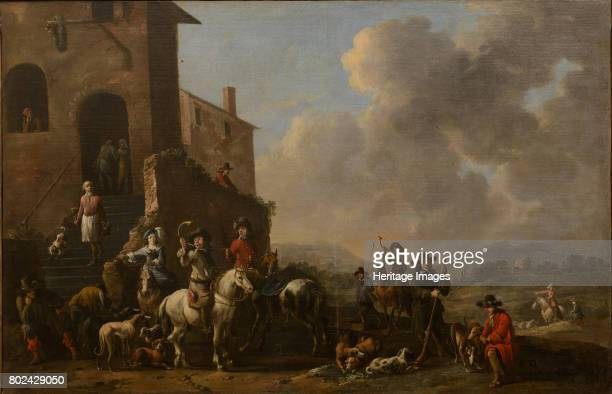 Preparing for the hunt 1670s Found in the collection of State A Radishchev Art Museum Saratov