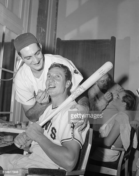 Preparing for their parts in tonight's entertainment at the Annual Dinner of the N.Y. Chapter of the Baseball Writers Association, Dodgers pitcher...