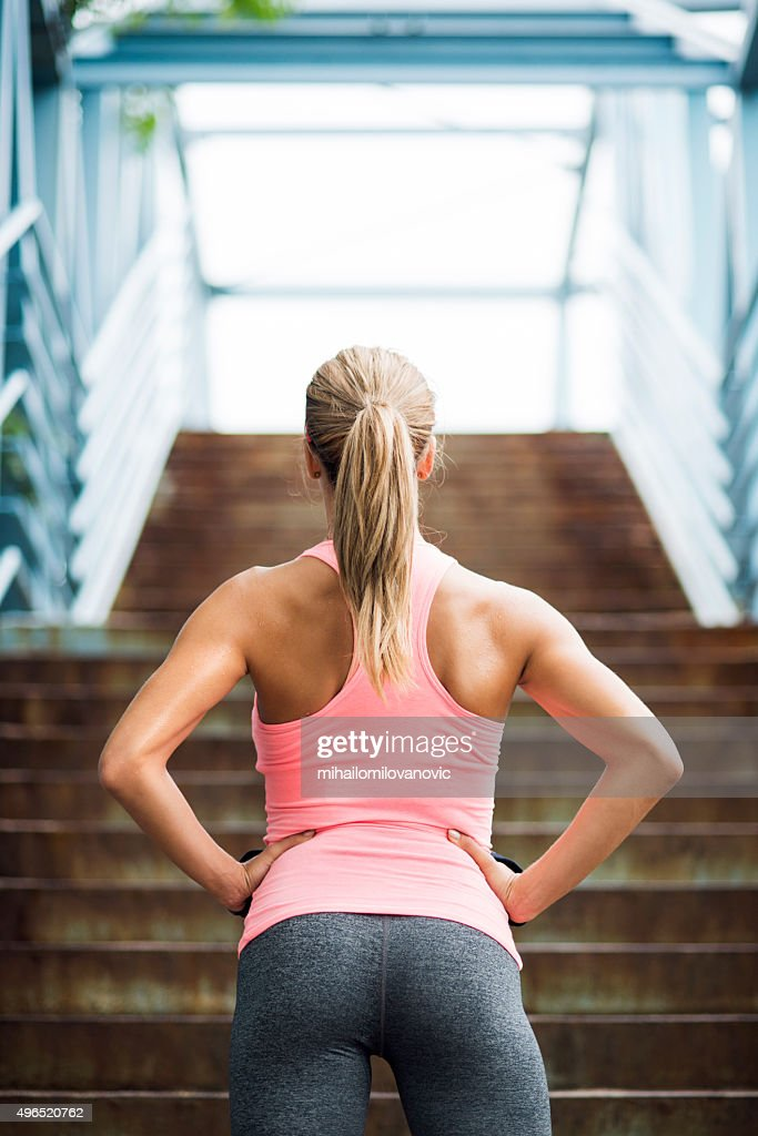 Preparing for workout : Stock Photo