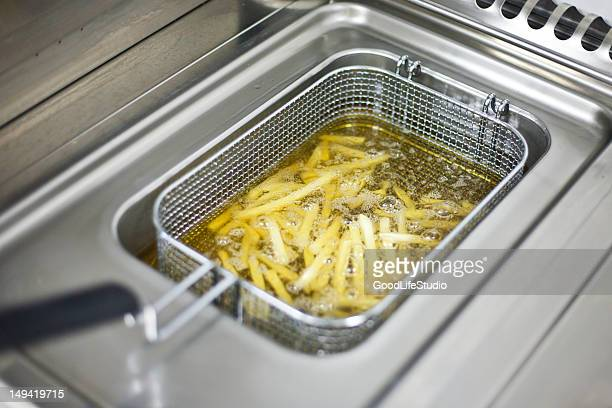 Preparing French fries