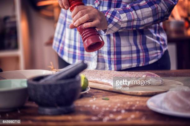 Preparing Fresh Alaska Pollock Fillet