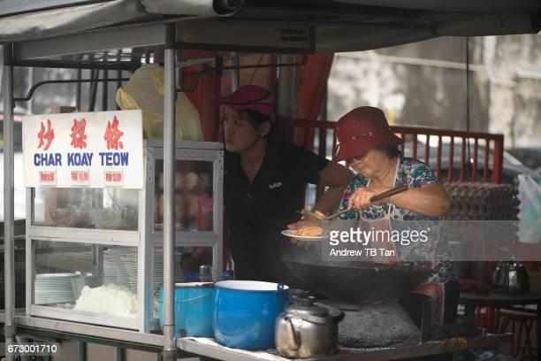 Preparing Fried (Char) Kuay Teow