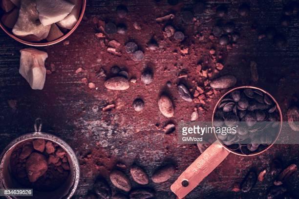 Voorbereiding van zelfgemaakte goede kwaliteit chocolade Bars