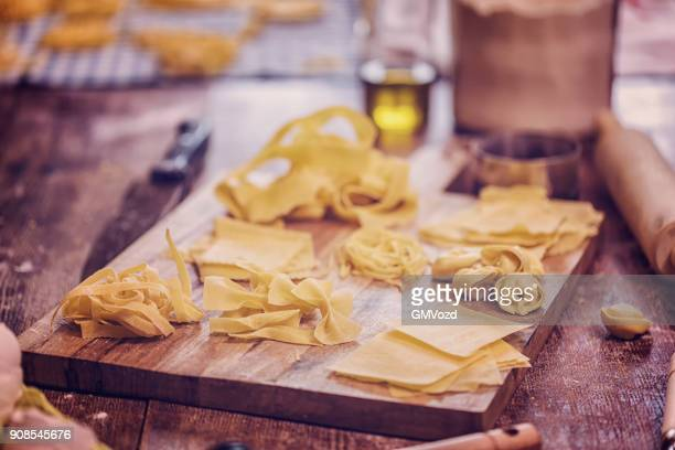 Vorbereitung der hausgemachte Pasta