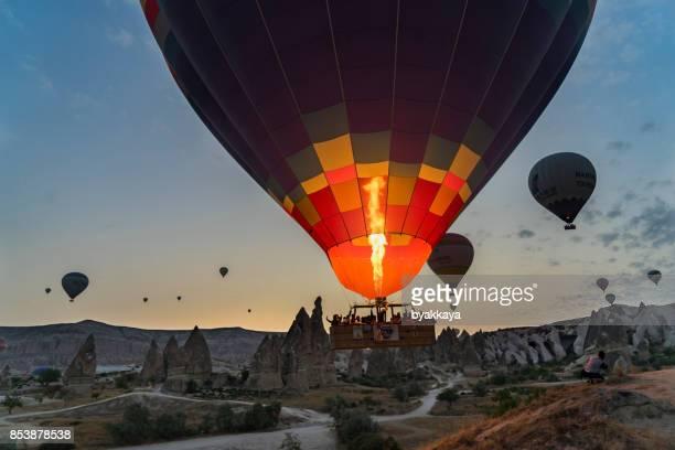 Preparing Hot Air Balloons To Fly over Cappadocia