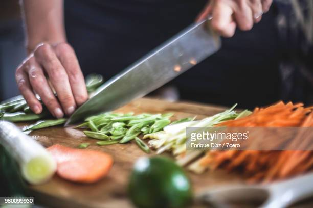 preparing julienned vegetables for korean pancakes close up - cutting stock pictures, royalty-free photos & images
