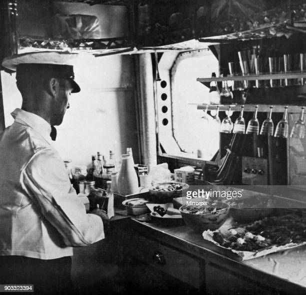 Preparing Lunch in the Imperial Airways liner 'Scylla' The airline was merged into British Overseas Imperial Airways corporation in 1940 18th...