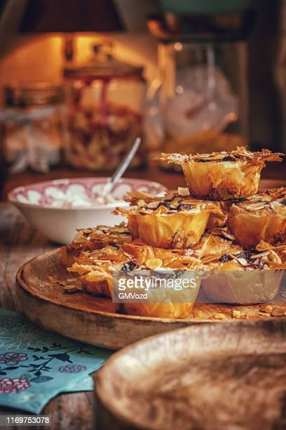 preparing minced pies for christmas - glazed ham stock pictures, royalty-free photos & images
