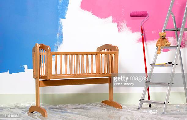 Preparing nursery for new born baby