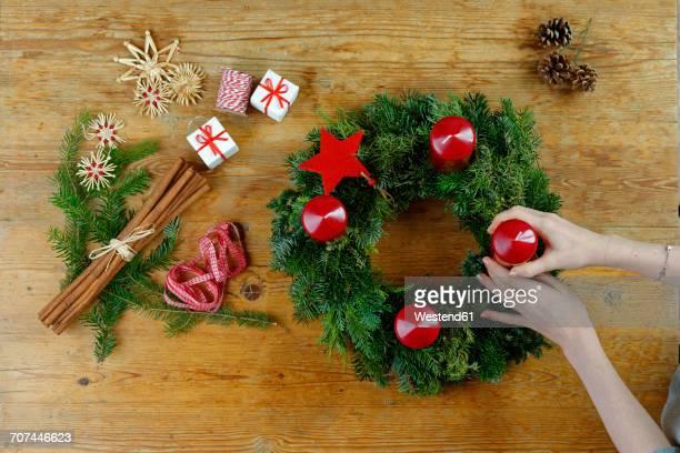 Preparing of an Advent wreath