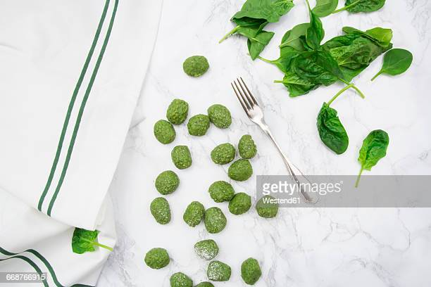 Preparing spinach gnocchi