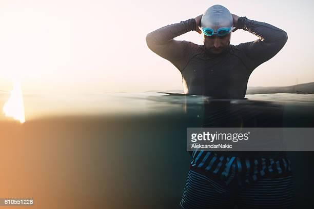Preparing to dive in