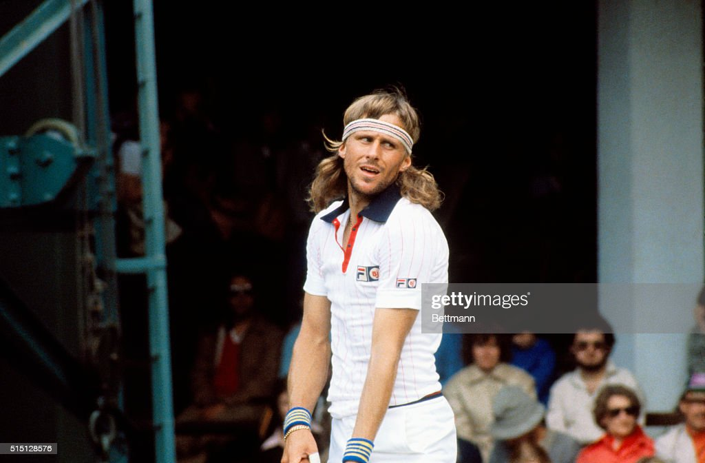 Tennis Champ Bjorn Borg : News Photo
