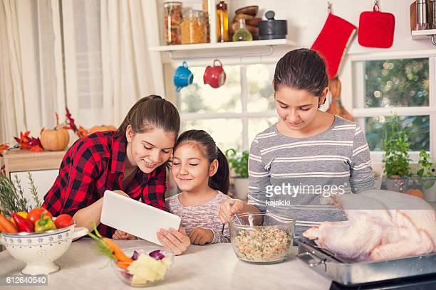 Preparing Turkey for Holiday Dinner