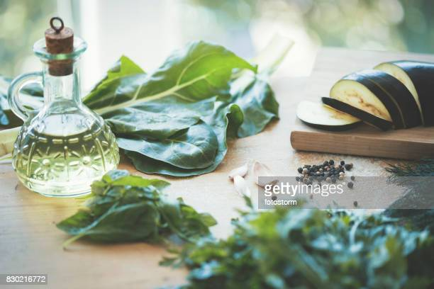 Preparing vegan lunch