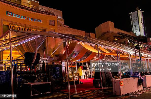 Preperations continue for the 87th Annual Academy Awards at Dolby Theater on February 21 2015 in Hollywood California
