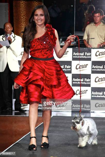 NYC Prep's Kelli Tomashoff and Lissner's dog Dorothy attend Animal Fair's 10th Annual Paws For Style at M2 Ultra Lounge on July 27 2009 in New York...