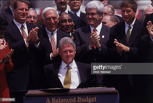 Balanced budget agreement stock photos and pictures getty images bill clinton platinumwayz