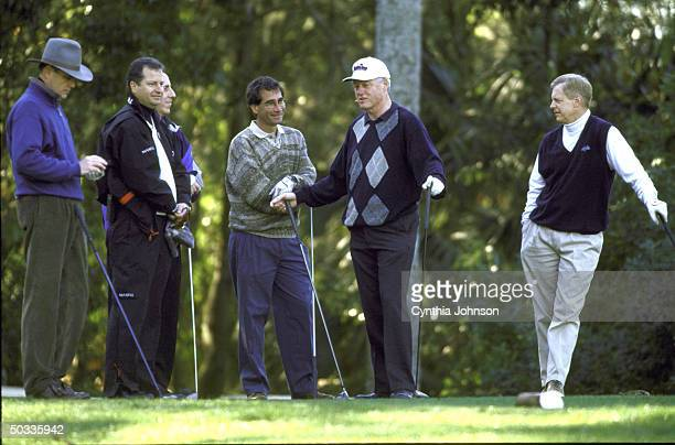 Pres Bill Clinton out on golf course