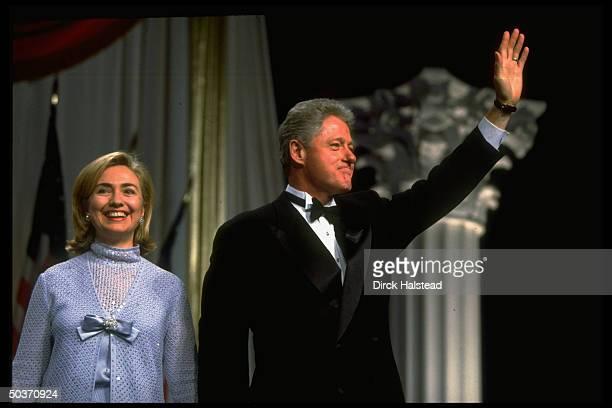 Pres Bill Hillary Rodham Clinton attending Democratic Party fundraiser