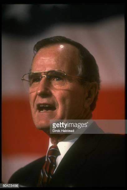 Pres Bush addressing GOP fundraiser for Rep Tom Tauke