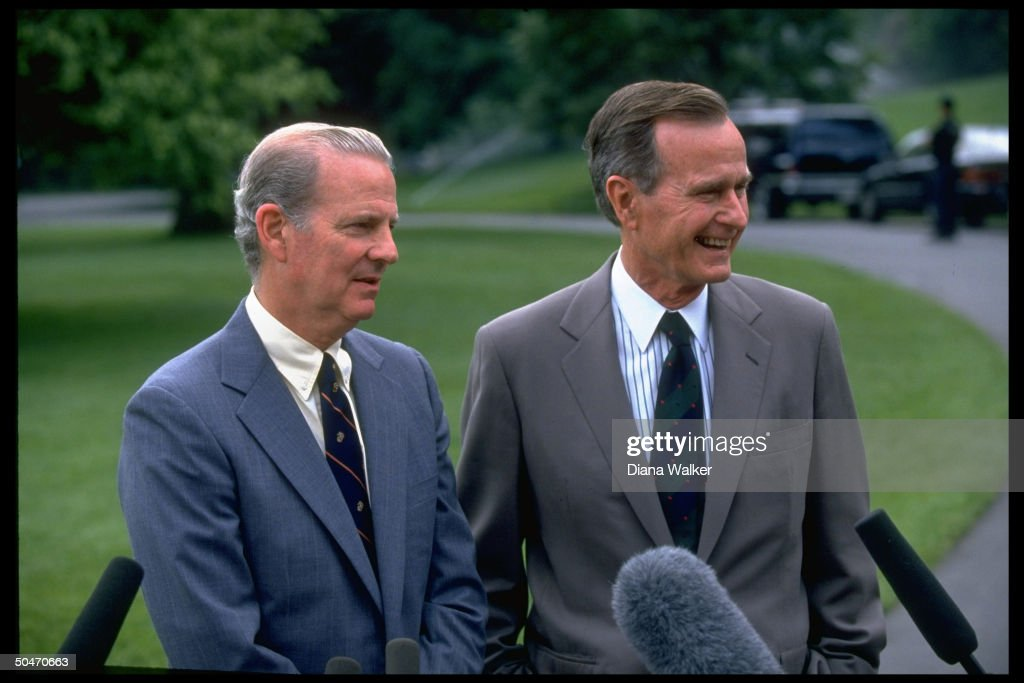 George H. W. Bush;James A. III Baker : News Photo