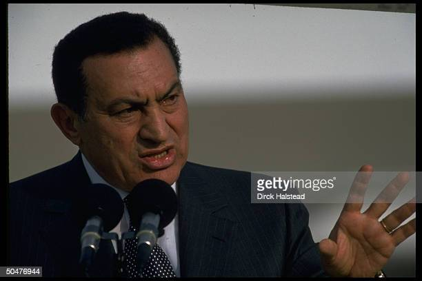 Pres. Hosni Mubarak hosting world ldrs. Conf. On fighting terrorism & promoting peace in Mideast in show of support for suicide bomb-weary Israel.