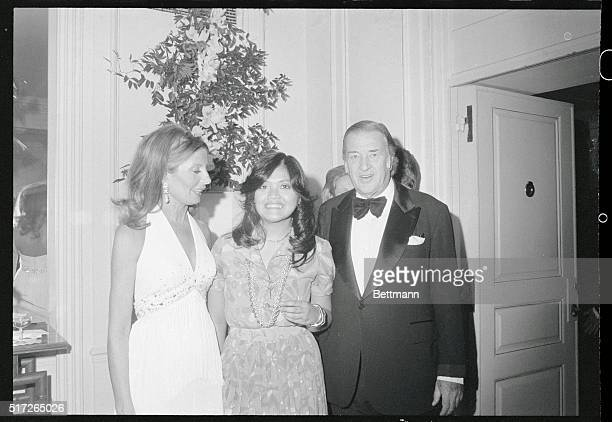 Pres Marcos' Daughter Makes Debut New York New York Maria Marcos daughter of Philippine president Ferdinand Marcos is flanked by Mr and Mrs Henry...