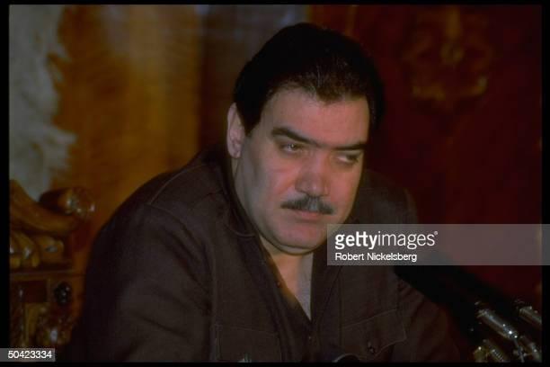 Pres Najibullah at press conf