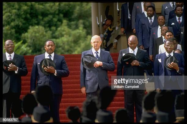 Pres PW Botha w ldrs of independent black homelands