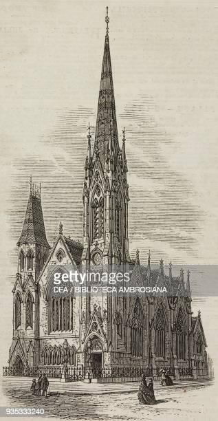 Presbyterian Church Dublin Ireland illustration from the magazine The Illustrated London News volume XLVI February 18 1865