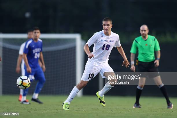 Presbyterian's Nemanja Zivanovic The Duke University Blue Devils hosted the Presbyterian College Blue Hose on September 5 2017 at Koskinen Stadium in...