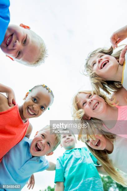 preschool children in a group - community centre stock pictures, royalty-free photos & images