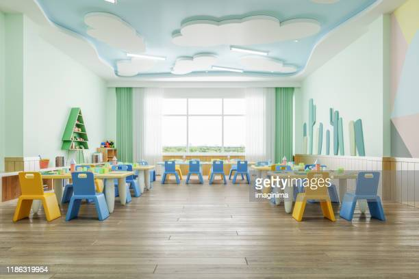 preschool classroom - classroom stock pictures, royalty-free photos & images