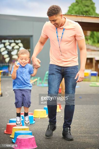 pre-school stepping stones - sturti stock pictures, royalty-free photos & images