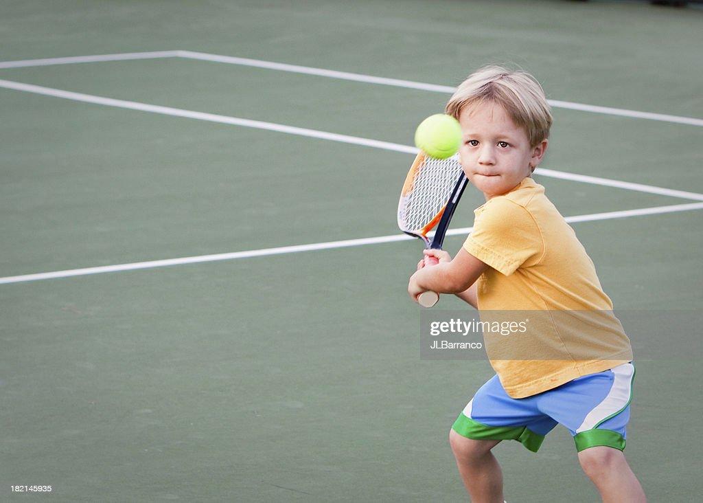 Pre-school Tennis Player : Stock Photo