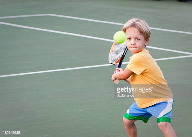 pre-school tennis player - tennis stock pictures, royalty-free photos & images